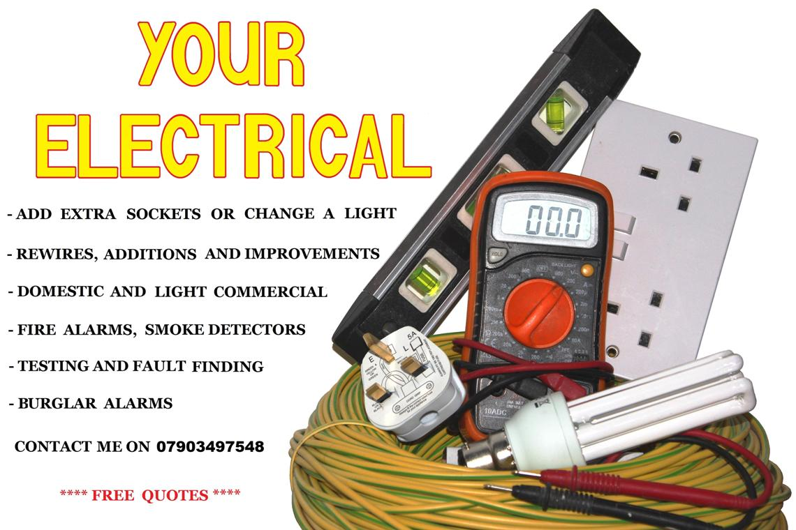 Electrician Quotes Yourelectrical.co.uk  Your Electrical.for Free Quotes